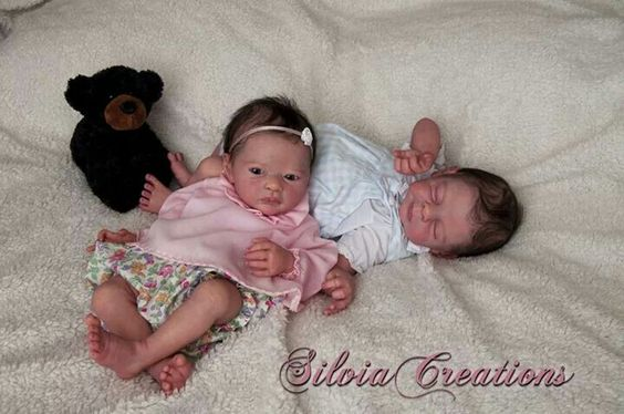 Twins babies reborned by Silvia Ezquerra ♥