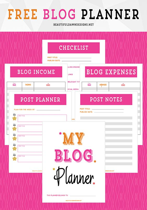 Organize your blog with this free blog planner printable. [blogging tips   freebies] - beautifuldawndesigns.net