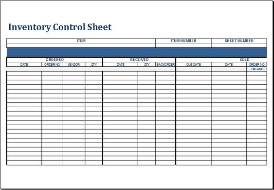 Inventory control sheet DOWNLOAD at http\/\/wwwxltemplatesorg - packing slip format