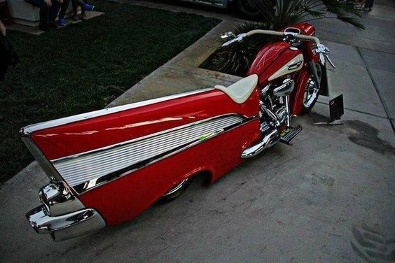 Motorbike with a fin