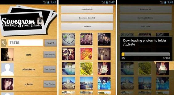 SaveGram, descarga a tu Android las fotos públicas de Instagram http://bit.ly/J0EfXQ