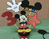 Birthday decorations mickey mouse clubhouse table by SadieBows