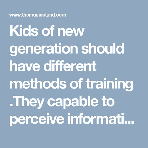 Kids  of  new generation  should have different methods of training .They capable to perceive information faster, with cross-modal processing  ,activating all senses at once : visual perception, audio analyzers , neuromotor functions.   http://www.linkedin.com/pulse/computer-based-maths-module-elementary-music-education-sergey  http://educationinjapan.wordpress.com/2011/02/04/considering-the-benefits-of-digital-music-grammar-in-a-music-educational-program/    NeuromusicGroup Reflection…