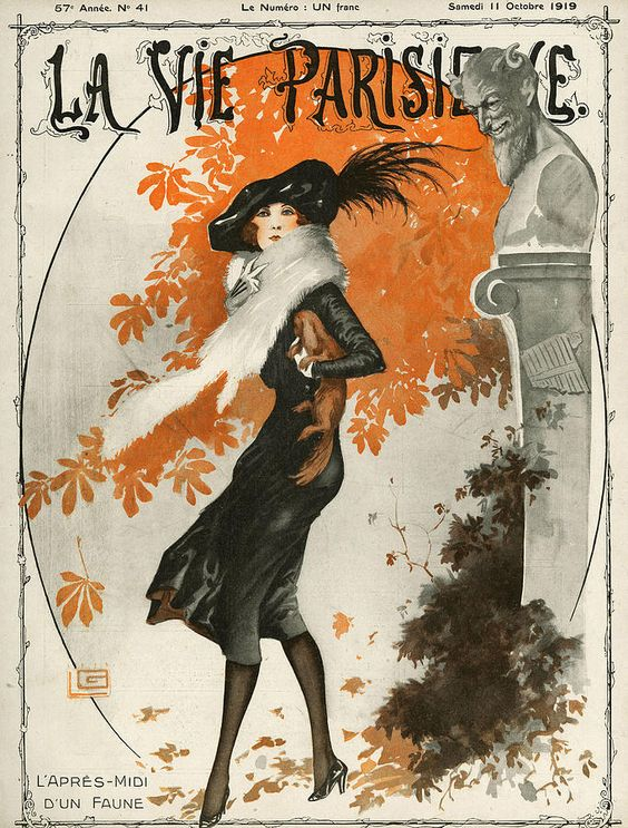 La Vie Parisienne  1919 1910s France Drawing  - La Vie Parisienne  1919 1910s France Fine Art Print