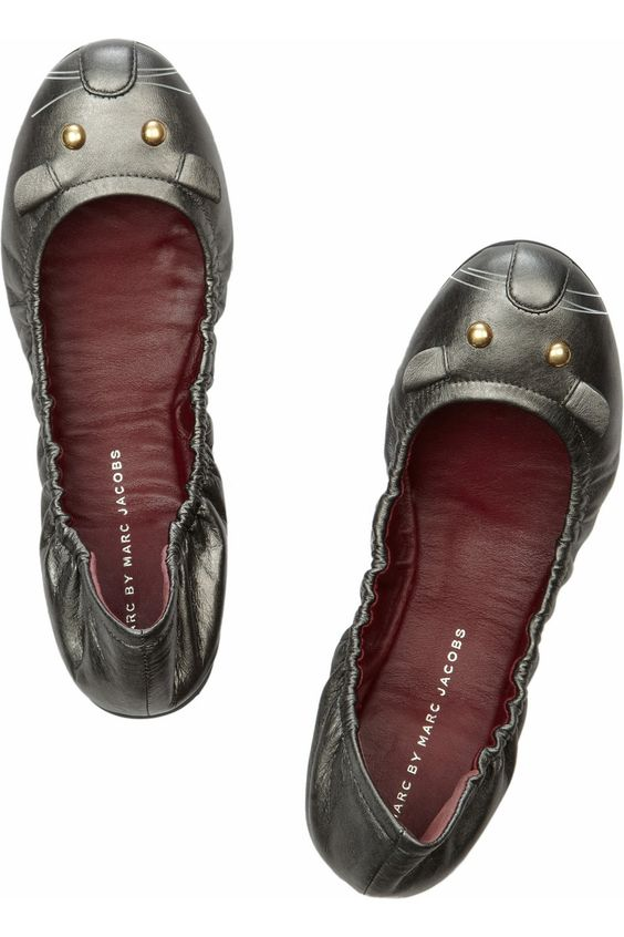 Marc Jacobs leather mouse ballet flats. I need ballet flats for work; why not adorable ones?