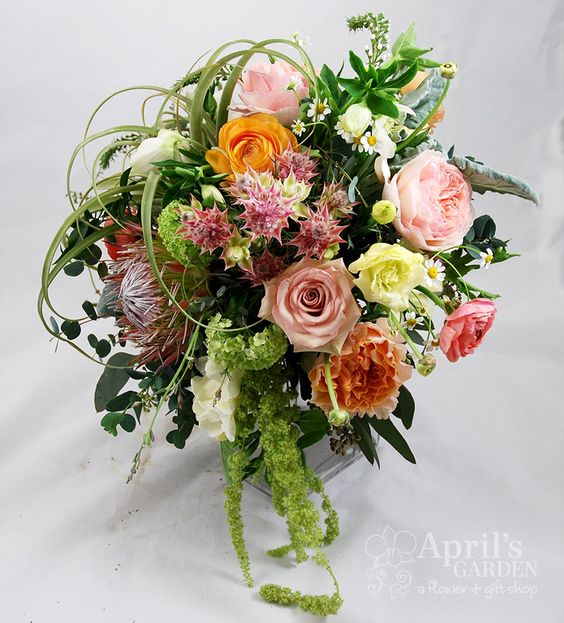 Another look at the spring inspired bouquet from the 2014 wedding expo  Flowers by April's Garden durangoflorist.com/ https://www.facebook.com/aprilsgiftgarden