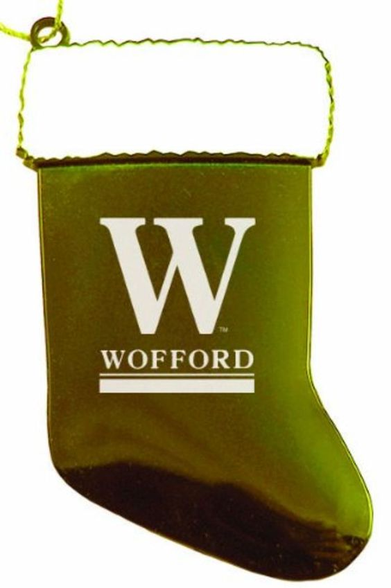 Wofford College - Chirstmas Holiday Stocking Ornament - Gold