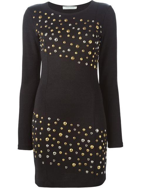PIERRE BALMAIN 铆钉修身连衣裙. #pierrebalmain #cloth #dress