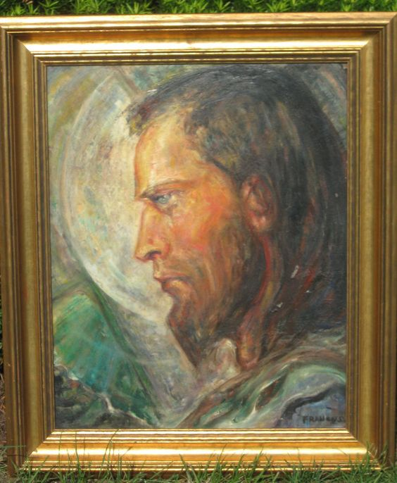 find best value and selection for your antique vintage oil painting portrait of jesus christ 19 x 25 frame search on ebay worlds leading marketplace