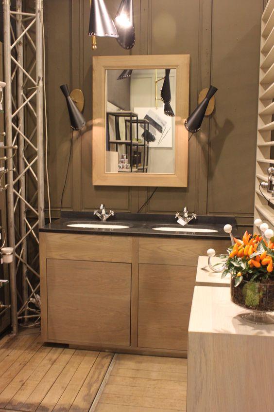 Dans la Gamme Epure , le meuble double vasque L139 H90 P50, plateau - Meuble De Salle De Bain Sans Vasque