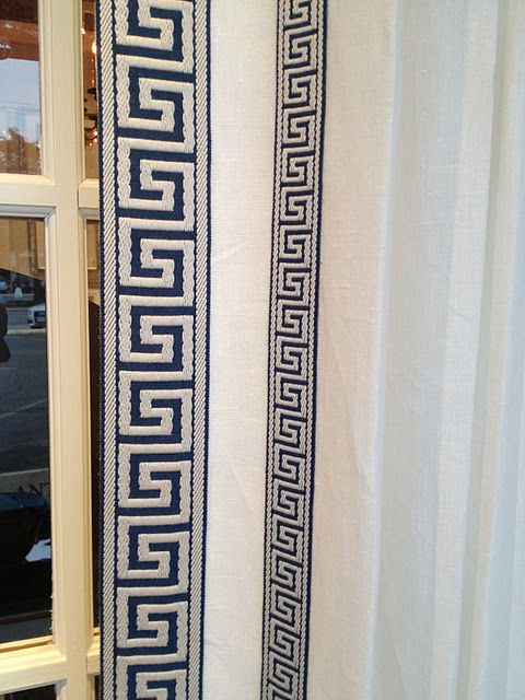 Curtain Trim Greek Key And Ribbons On Pinterest
