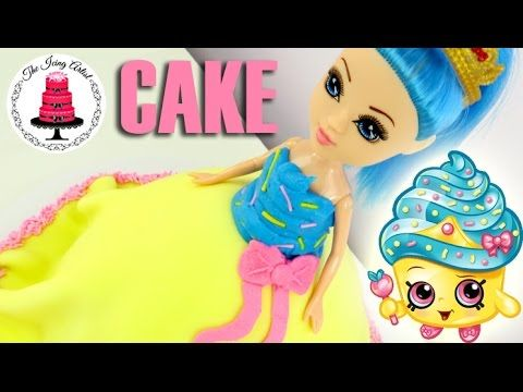 """Shopkin Inspired """"Cupcake Queen"""" Princess Dress Cake - How To With The Icing Artist - YouTube"""