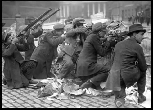 The Easter Rebellion 1916 - Irish Republicans rise up against English rule