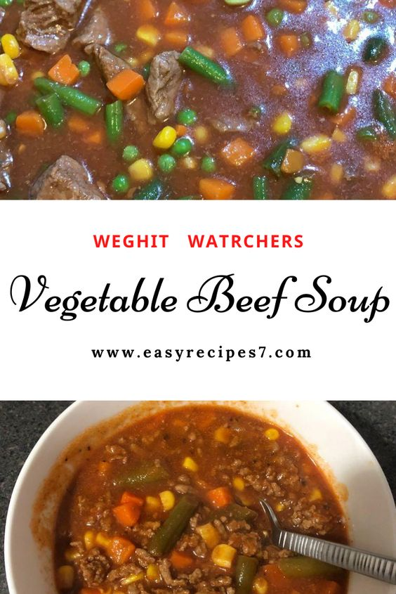 #Vegetable #Beef #Soup Vegetable Beef Soup #NUTRITION: #Calories: 266kcal | #Carbohydrates: 31g | #Protein: 26g  | #Fat: 6g | #Saturated Fat: 2g  | #Cholesterol: 56mg  | #Sodium: 1133mg  | #Potassium: 1144mg  | #Fiber: 6g  | #Sugar: 9g | #Vitamin A: 3361IU |# Vitamin C: 20mg | #Calcium: 59mg | #Iron: 5mg