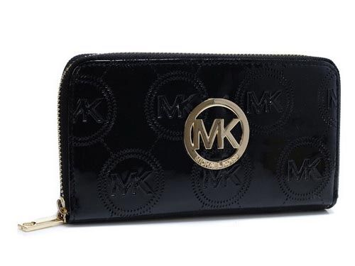 Special Price : $47.99 - Michael Kors Gold Logo Embossed Leather Wallet \u0026middot; Michael Kors WalletMichael Kors PursesMichael Kors Handbags SaleCheap ...