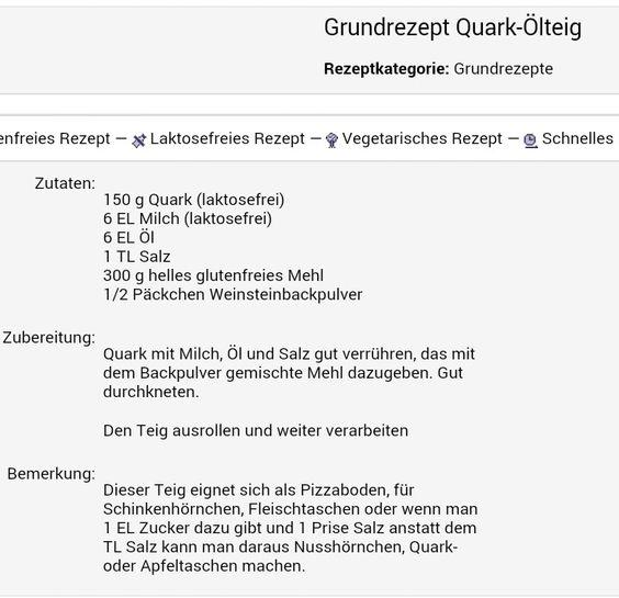 Quark  Öl  Teig