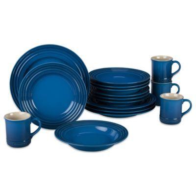 Le Creuset® 16-Piece Dinnerware Set in Marseille - BedBathandBeyond.com