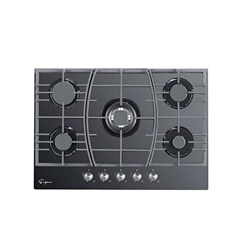 Gasland chef CH77BF 30 Built-in Electric Stove 220V Vitro Ceramic Surface Radiant Electric Cooktop 9 Heating Level Settings Electric Stove with 4 Burners Kids Safety Lock Electric Cooktop