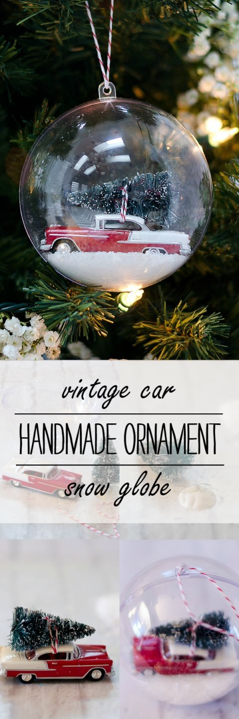 Vintage Car Handmade Ornament for Christmas: