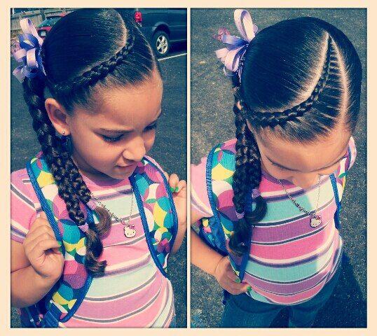 Fabulous Little Girl Hairstyle Hair Little Girl Scalp Braid Plait Short Hairstyles For Black Women Fulllsitofus