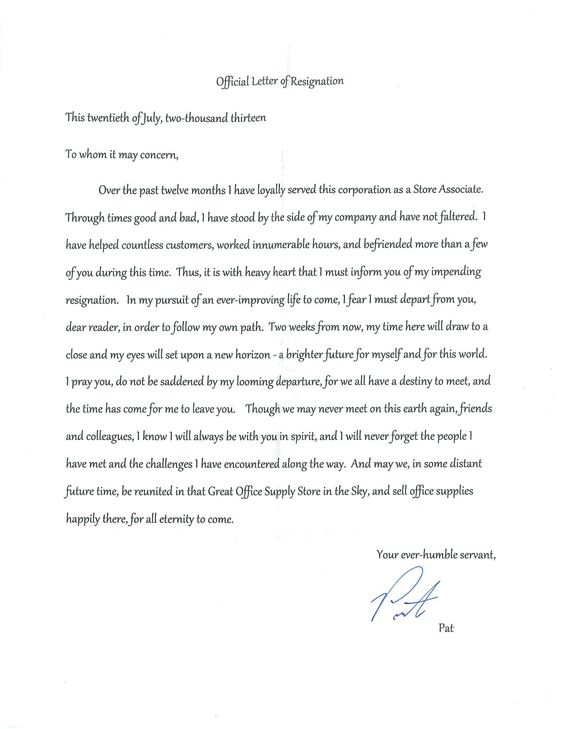 Letter Of Resignation  Hilarity    Funny Images Funny