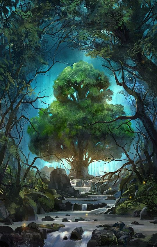 #Fantasy #World #Artwork #Forest #Poetry #Tree