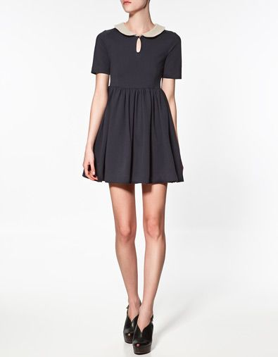 bought it... CONTRASTING COLLAR DRESS - Last sizes - Woman - ZARA United States