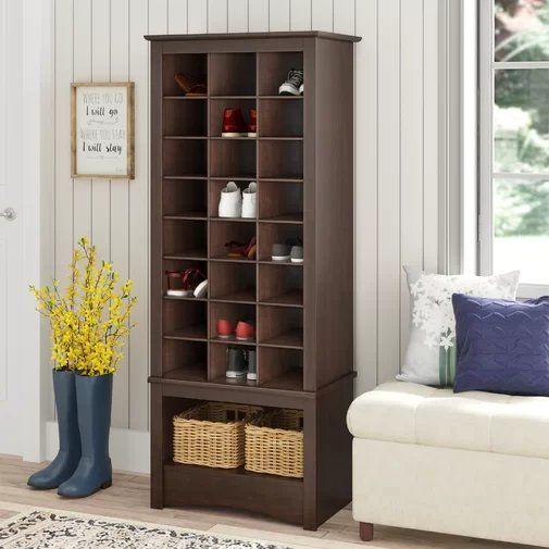 Manzanola 24 Pair Shoe Rack Shoe Storage Cabinet Space Saving