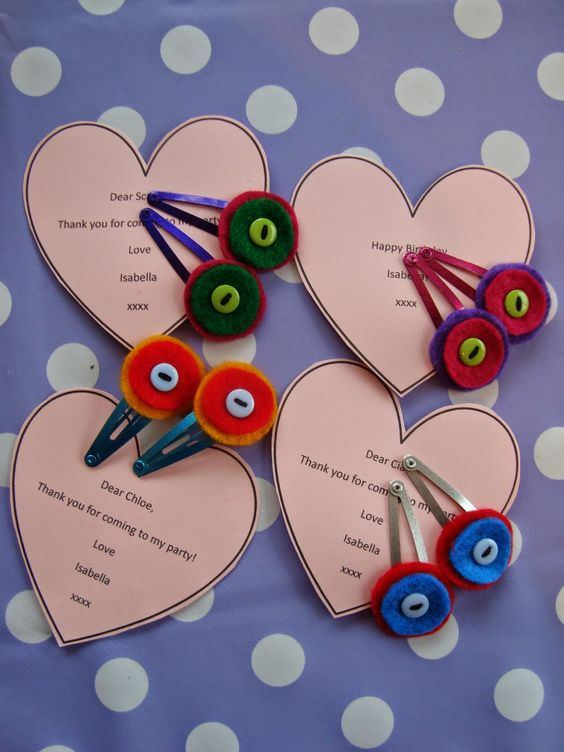 Colourful hairclips. Budget diy present, favour or stocking/party bag filler using £1 shop hairclips from Ma Vie Bella
