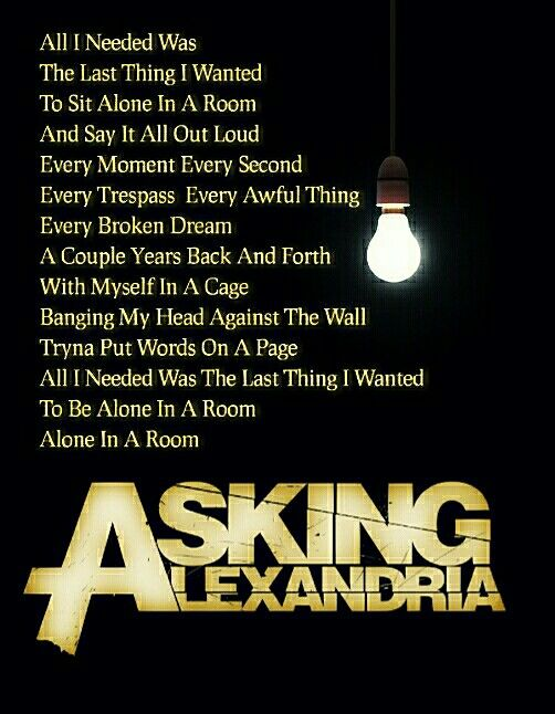 Asking Alexandria Alone In A Room Selfmade Wallpaper With