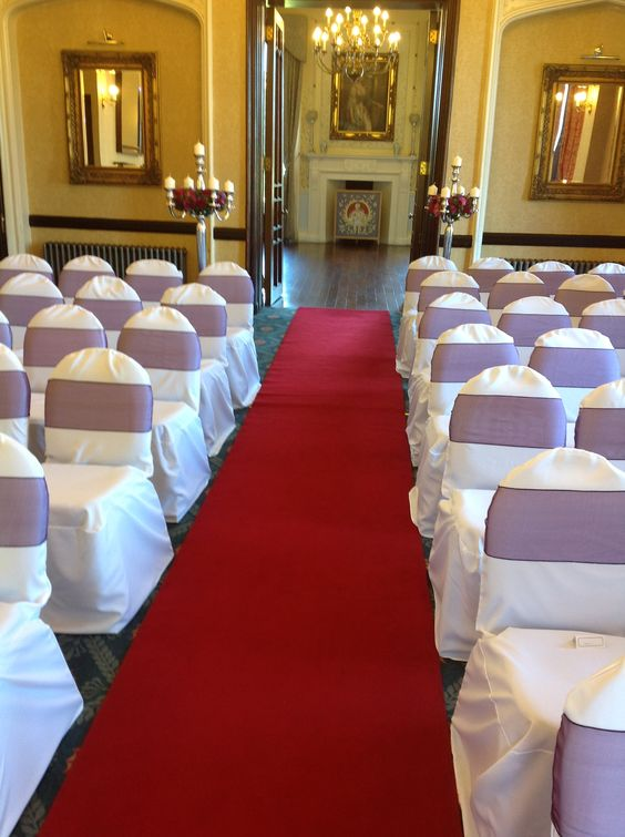 Wedding Chair Covers at Rowton Castle Hotel