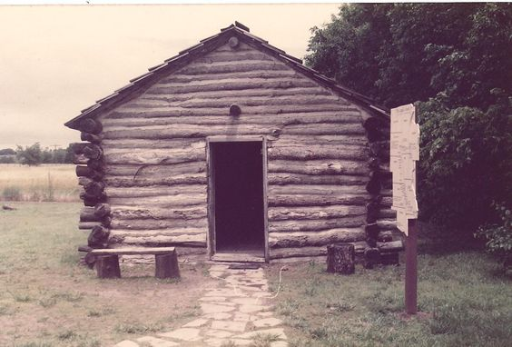 Little House on the Prairie. Replica of Ingalls Cabin, Independence, Ks.
