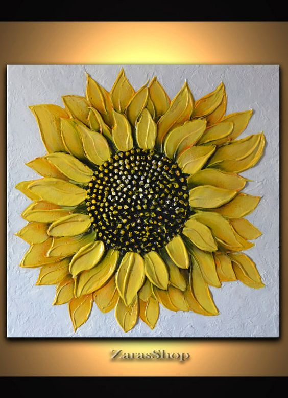 Art 3d Abstract Life For Her Originals Yellow Art Flower Gifts D Love