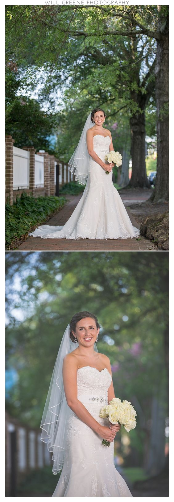 Bridal shoot near Tryon Palace, New Bern NC, Will Greene Photography