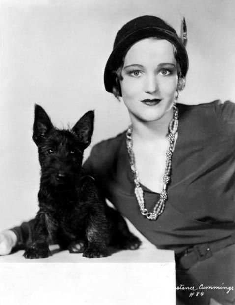 Constance Cummings and her dog