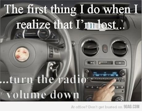 I can't stop LOLing because it's so true. I also turn it down when its raining...lol like it helps?!