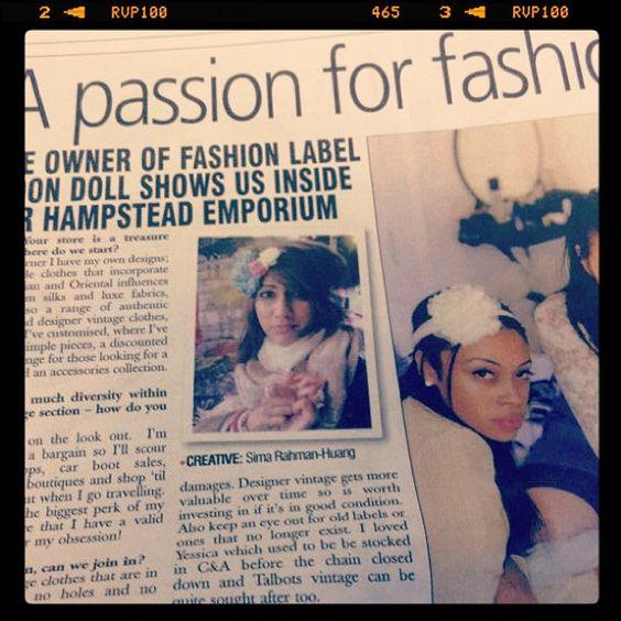 Press coverage for #moondollboutique #newspaper #press #media #marketing #vintage #fashion #fairtrade #fashionista #models #modelling #hampstead #london #londonlife #boutique #passion