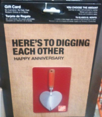 Funny, Happy anniversary and Home on Pinterest Happy Gift Card Home Depot