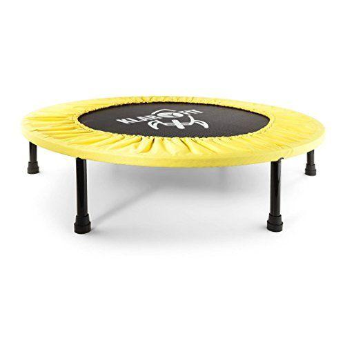 Trampolín Elástico Plegable Para Adultos Amarillo Klarfit Cama Elastica Camas Cama Plegable