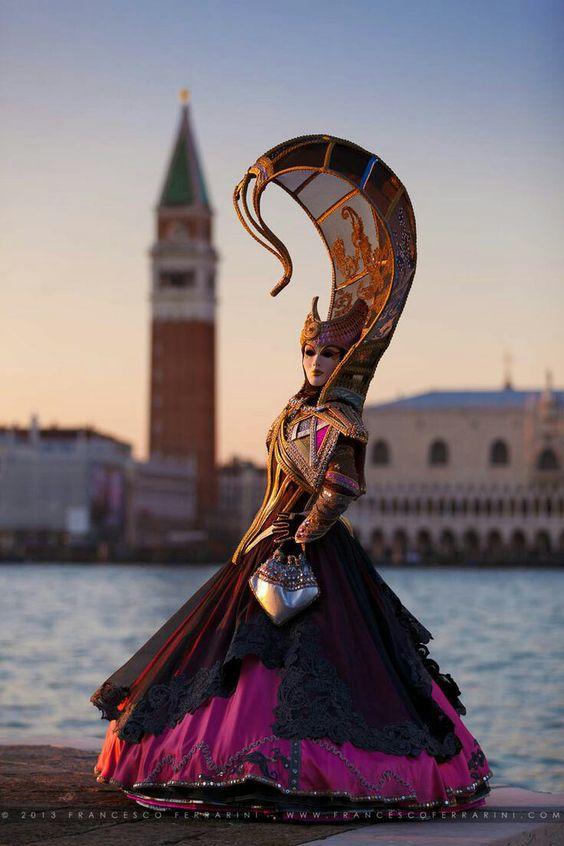 Mardi Gras Carnival Costumes in Venice