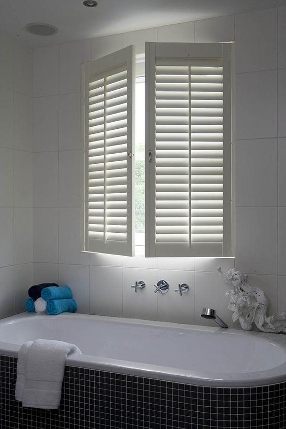 Afvoer Goot Badkamer ~ Shutters badkamer raamdecoratie interior pinterest