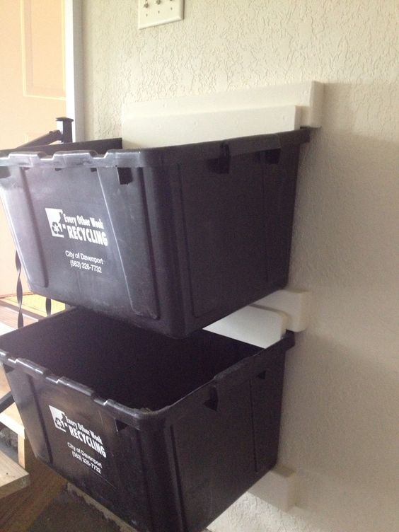 recycle bin ideas garage - Do you have one of these recycling bins Try this for a