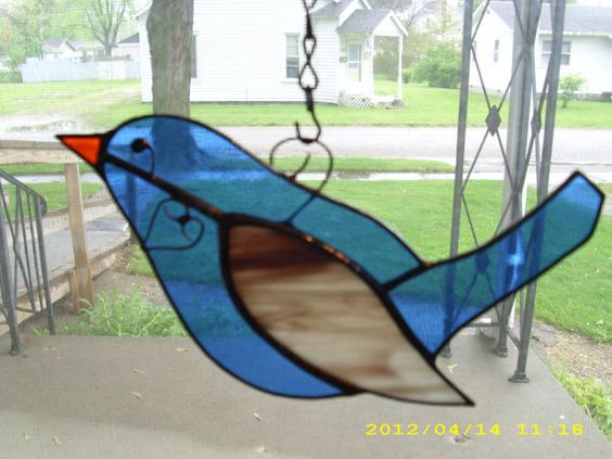 Blue Lovie Bird by shinythangs on Etsy, $14.00