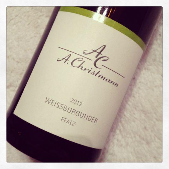 A. Christmann  Weissburgunder trocken 2012 Pfalz, Deutschland  #wein #weinerleben