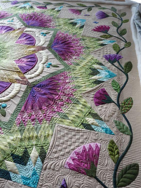 Zen Garden, made and quilted by Margaret Solomon Gunn, mainelyquiltsoflove.com
