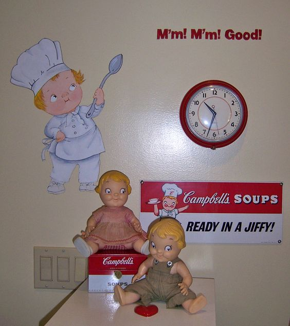 I COLLECT CAMPBELL SOUP KID ITEMS, SO I PAINTED ONE ON MY