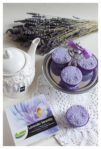 Springerle cupcakes.   Flickr - Photo Sharing!