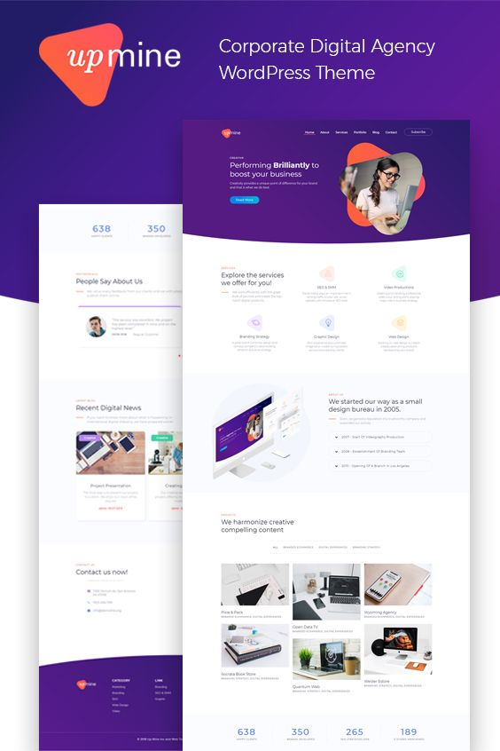 Digital Agency Elementor Template Website Design Web Design Website Template Design