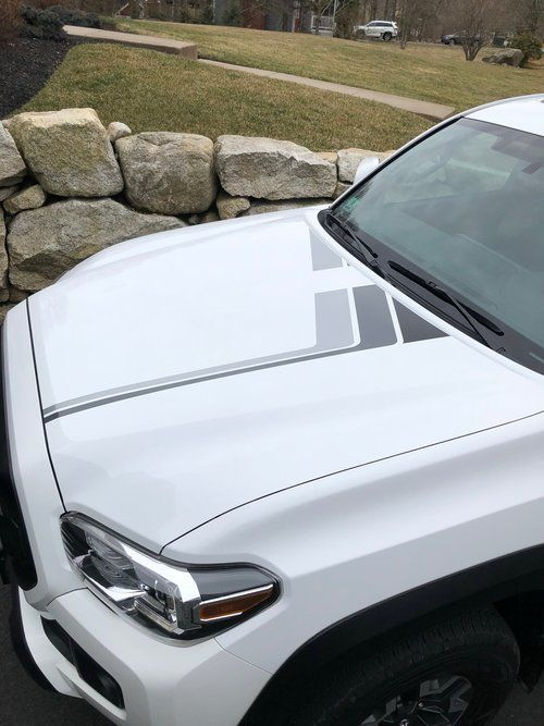 Monochrome Back To The Future Hood Decal Kit For 3rd Gen Tacoma
