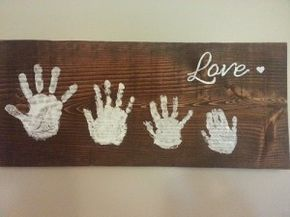 diy handprint sign - perfect for Father's Day #theultimateparty – Week 6